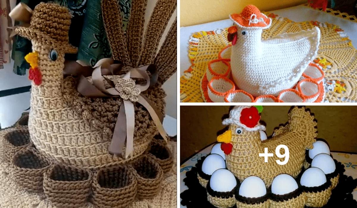 Canasta Para Huevos Manualidades.12 Ideas De Canastas Para Huevos A Crochet Decorativo Y